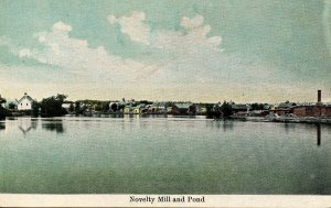 ME - Pittsfield. The Novelty Mill and Pond