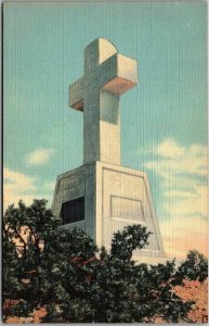 1940s Santa Fe, New Mexico Postcard CROSS OF THE MARTYRS Curteich Linen Unused
