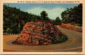 LOT OF 6 : WV WEST VIRGINIA CHARLESTON LINEN CAPITOL POSTCARDS