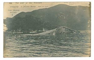 RP, Waikare Ship Wreck ,  Dusky Sound January 4, 1910, New Zealand