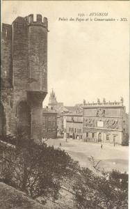 Avignon, Palais des Papes et le Conservatoire, early 1900s