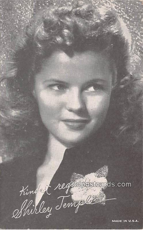 Shirley Temple Movie Star Actor Actress Film Star Postcard, Old Vintage Antiq...