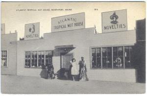 Northport ME Atlantic Tropical Nut House Novelties Postcard