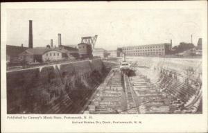 Portsmouth NH US Dry Dock c1905 Postcard