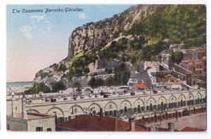 Gibraltar Casemates Barracks Vintage Benzaquen & Co Postcard