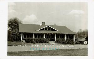 1957 Jackson's Mill WV RPPC: Marion County Cottage, Amusing Message - Rare!