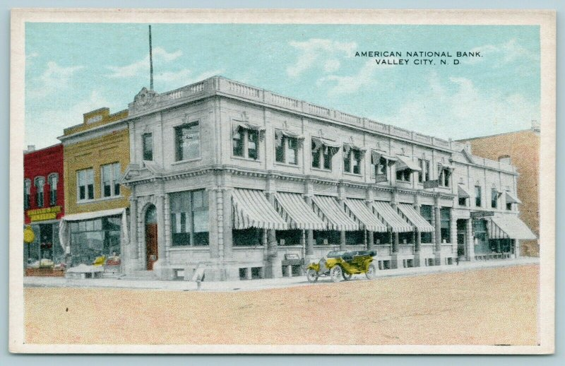 Valley City ND~Jeweler Fritch & ? Next to American Nat'l Bank~Tailor, 1920s Cars
