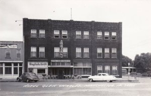 Iowa Manchester Hotel Glen Charles Bordens Ice Cream Store Real Photo sk550