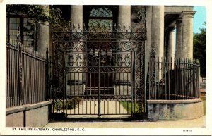 South Carolina Charleston St Phillips Gateway Curteich