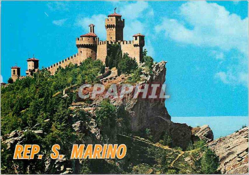 Postcard Modern Republica di S. Marino Second Tower