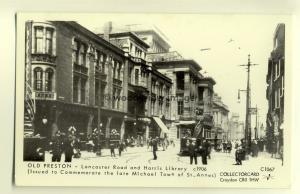 pp1388 - Preston - Lancaster Rd & The Harris Library - c1906 - Pamlin postcard