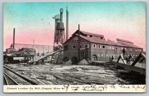 Cloquet Minnesota~Lumber Company Mill~Factory Water Tower~Logs~RR Tracks~1909