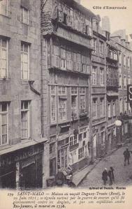 Maison Ou Naquit Duquay-Trouin (Rene), Le 10 Juin 1673; Saint-Malo (Ille-et-V...