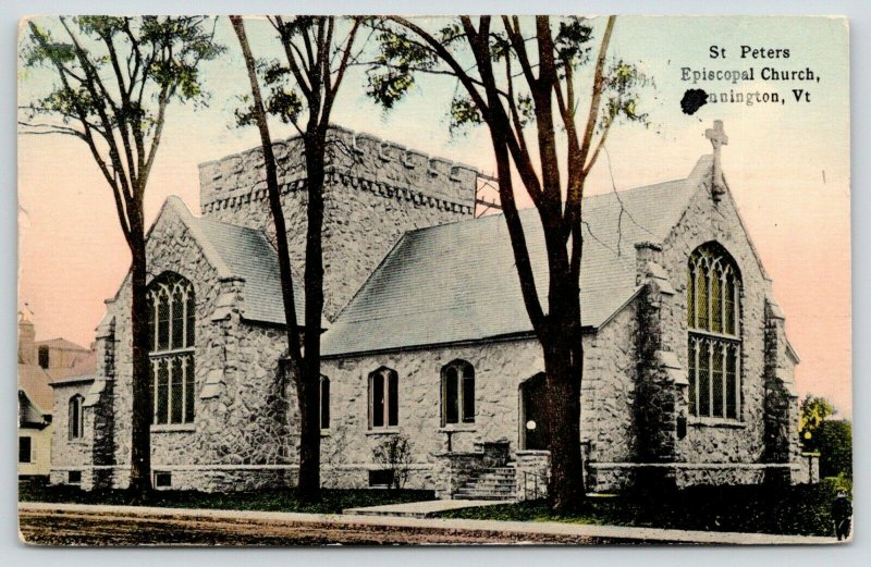 Bennington Vermont~St Peters Episcopal Church~Stained Glass Windows~1914