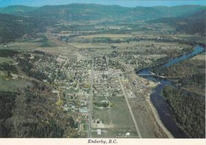 Aerial view showing Shuswap River, Enderby,  B.C., Canada,  40-60s