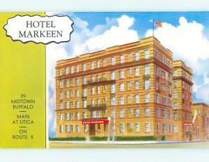 Unused 1950's MARKEEN HOTEL Buffalo New York NY Q5534-22