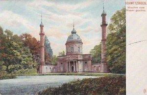 Germany Schwetzingen Die Moschee vom Wasser gesehen