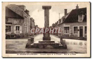 Bruere - Allichamps - Column central France - Rue de la Poste - Old Postcard
