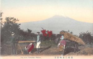 Hakone Japan Fuji from Otometoge Scenic View Antique Postcard J50027