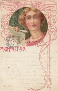 Art Nouveau Woman ; ARCHITECTURE , 1904