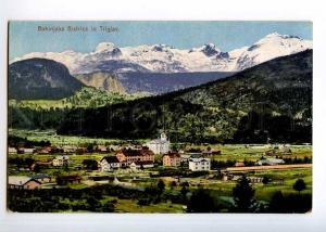 236441 SLOVENIA Bohinijska Bistrica in Triglav 1923 year RPPC