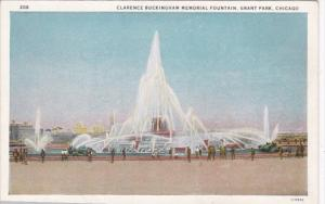 Illinois Chicago Clarence Buckingham Memorial Fountain Grant Park Curteich