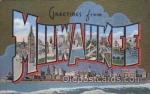 Milwaukee, USA Large Letter Towns Unused