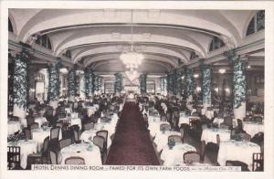 New Jersey Atlantic City Hotel Denis Dining Room Interior 1940