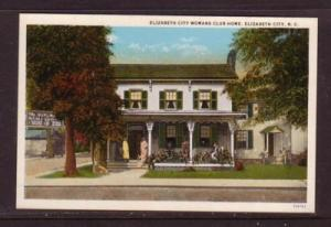 North Carolina colour PC Womans Club Elizabeth City unused