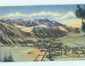 Unused Linen POSTCARD FROM Jackson Wyoming WY HM9107