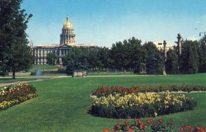 Pretty Denver,Colorado/CO Postcard, State Capitol Building