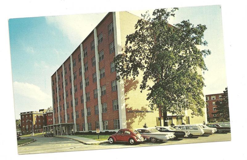 Chrome postcard of Elyria Memorial Hospital, Elyria, Ohio