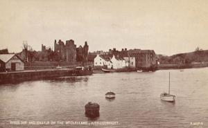 The River Dee Fishing Boats Kirkcudbright Antique Postcard
