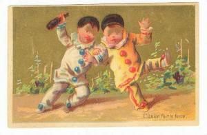 TC: Baby Clowns Dance w/ Champagne 1880-90s
