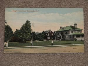 Kingsboro Ave., Gloversville, N.Y., 1915, used vintage card
