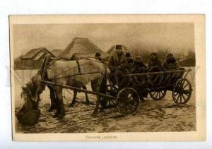 186103 WWI POLISH TYPES farmers in cart vintage postcard