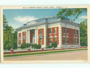 Unused Linen COURT HOUSE Camden South Carolina SC n4512