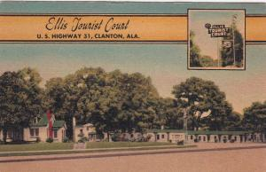 CLANTON, Alabama, 30-40s : Ellis Tourist Court