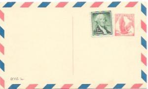 UXC2  Air Mail Postcard