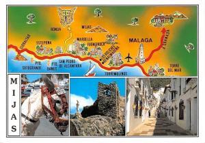 Spain Mijas Map multiviews Statue Street Marbella Torremolinos Torre del mar