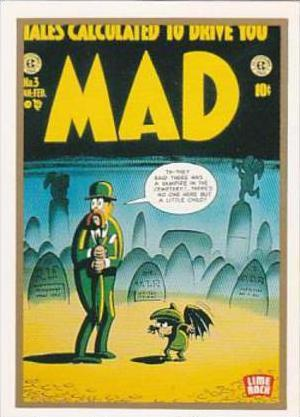 Lime Rock Trade Card Mad Magazine Cover Issue No 3 Feb-Mar 1953