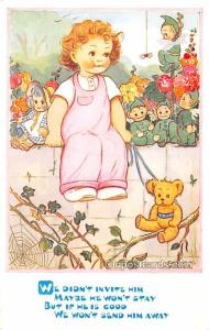 Teddy Bear Post Card Phyllis M Purser Unused