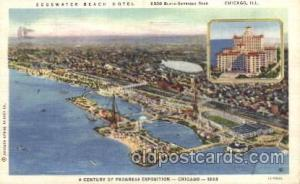 Edgewater Beach Hotel 1933 Chicago, Illinois USA Worlds Fair Exposition Postc...