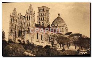 Postcard Old Angouleme Set the Cathedrale Saint Pierre