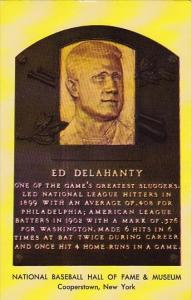 Ed Delahanty National Baseball Hall Of Fame & Museum Cooperstown New York