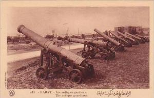 Morocco Rabat The antique guardians Canons 1920s-30s