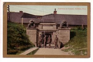 Gold Border, Soldiers, Citadel, Halifax, Nova Scotia, RPO Cancel, Halifax & S...