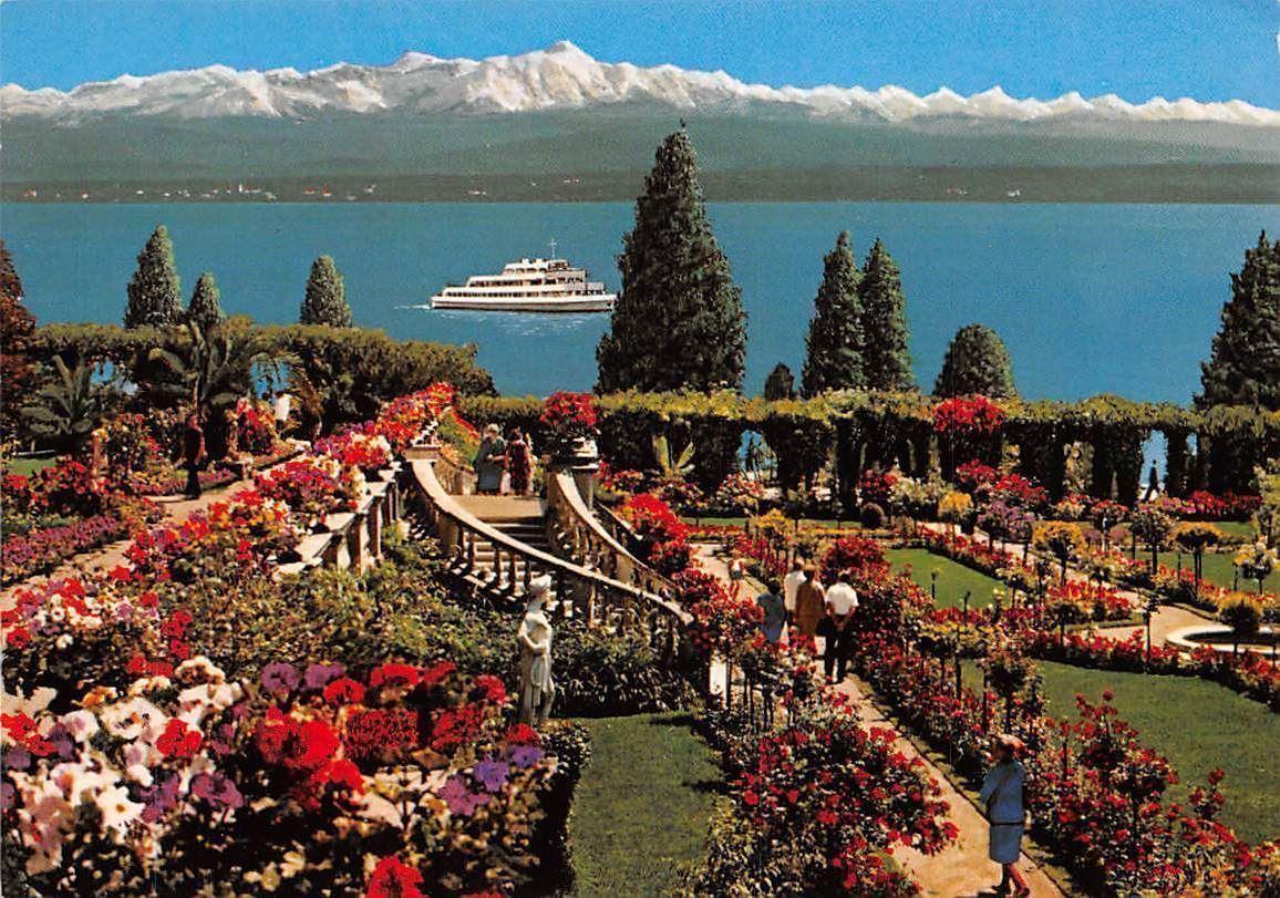 Insel Mainau im Bodensee Rosengarten Schiff Blumen Flowers Promenade ...