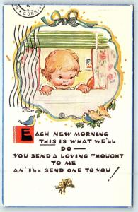 Postcard A/S Mabel Attwell Each New Morning Send Me a Loving Thought A2