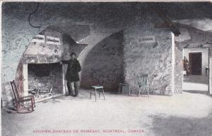 MONTREAL, Quebec, Canada; Kitchen, Chateau de Ramesay, 00-10s